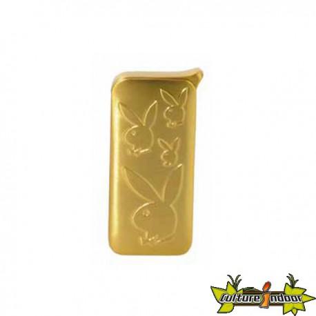 Playboy - Briquet Piezo Dl-12 - Gold Motif 4 Lapins