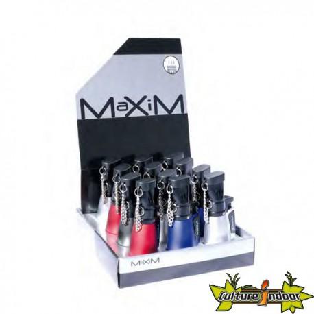 Maxim - Briquet 3 Flammes Bleues Colleville Dl-12 Gris Fonce