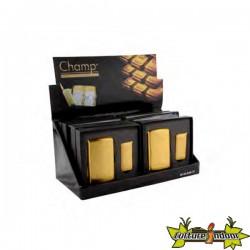 Champ - Set Cadeau Briquet Lingot + Boite 10 Cigarettes Gold