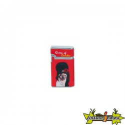 Pets Rock - Briquet Vera Piezo Dl-12 - Queen Of Camden - Rouge
