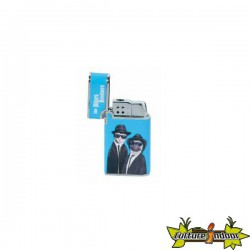 Pets Rock - Briquet Vera Piezo Dl-12 - Blues Brothers - Bleu