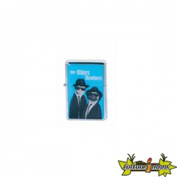 Pets Rock - Briquet Essence Dl-12 - Blues Brothers - Bleu