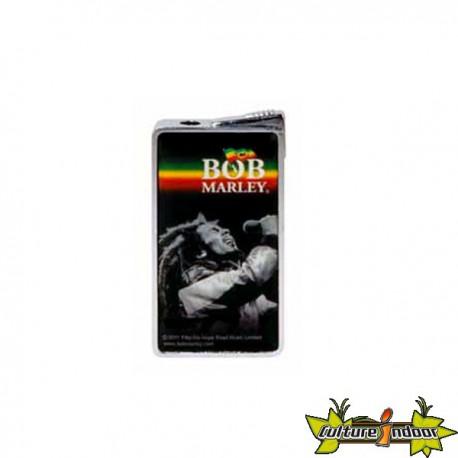 Bob Marley - Briquet Piezo Dl-12 - Noir/Bob N&B/ Bandes Horizontales