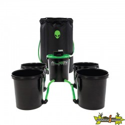 ALIEN - Système Hydroponique 4 POTS XL 20L FLOOD AND DRAIN