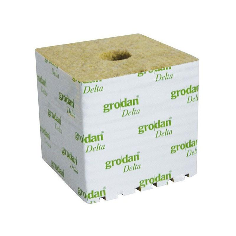 Grodan - 8 cubes laine de roche de 7,5 x 7,5 x 6,5 cm