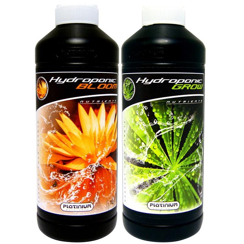Pack engrais Platinium Hydroponic Grow & Bloom 1L