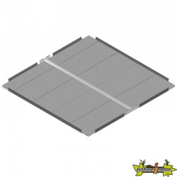 GROWCAMP BOTTOM RAISED BED - PLAQUE 120X120CM BASIC