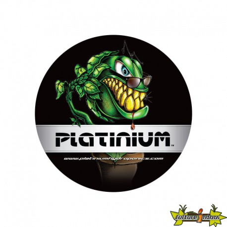 STICKER ROND ?10CM MONSTERPLANT PLATINIUM