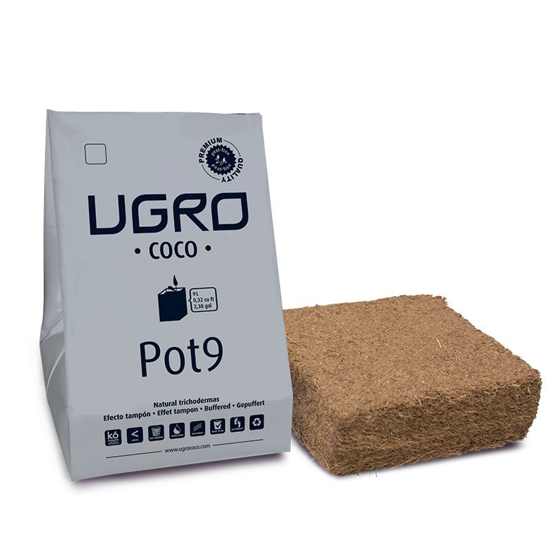 UGRO fibre de coco compressé Pot 9L