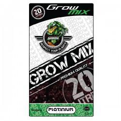 terreau GROW-MIX avec perlite sac de 20L Platinium, croissance et floraison , enrichi 4 semaines