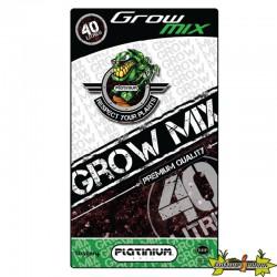 terreau GROW-MIX perlite sac de 40L Platinium , croissance et floraison , enrichi 4 semaines