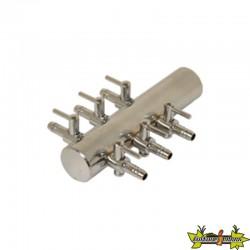 Diffuseur air Manifold en acier 6 sorties bulleurs 4/6mm