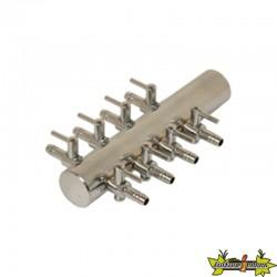 Diffuseur air Manifold en acier 8 sorties bulleurs 4/6mm