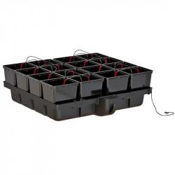 Platinium HydroPro 120 16 pots bato 120 x 116 x 38,5 cm , système hydroponique