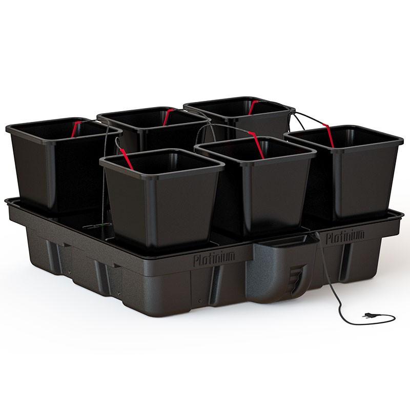 système hydroponique Platinium Big Pot XL 100 Big Pots 6 pots 18 L 100 x 100 cm