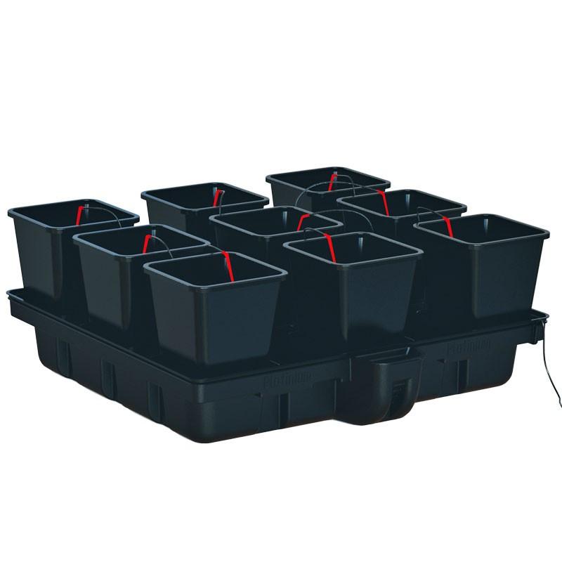 Platinium Big Pot XL 120 Big Pots 9 pots 18 L 120 x 120 cm, système hydroponique