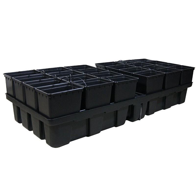 Platinium HydroPro 24 pots - 2m² 200x100x38,5cm , pot , système hydroponique