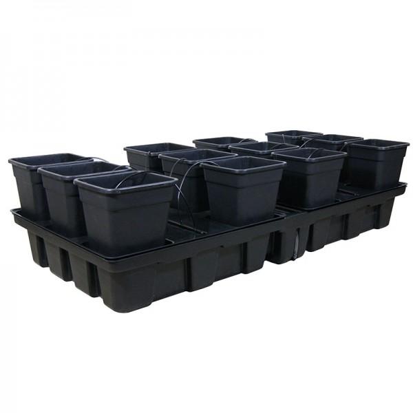 Platinium HydroStar Big Pots 2m² 12 pots 18 L 200 x 100 cm , culture hydroponique