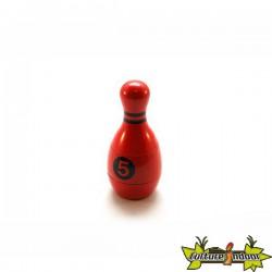 """Moulin 3 parts diamètre 44 mm """"Quille de bowling"""" rouge"""
