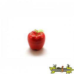 """Moulin 3 parts diamètre 55 mm pomme """"Big Apple"""" rouge"""