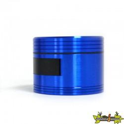 Moulin alu bleu 3 parts 61x48mm - Ouverture côté