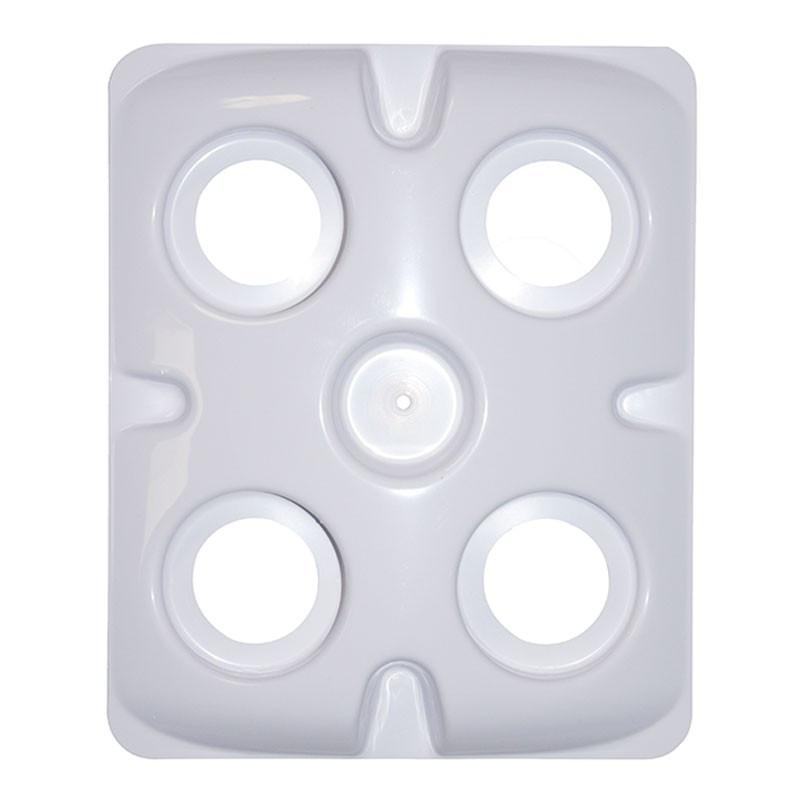 Plaque Platinium aéro 4 trous 5cm pour paniers 5cm et mousse neoprene 7 cm pour pot bato Mapito 30x25