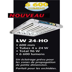 rampe fluorescent T5 LightWave 96 W 4 x 24 W 6500 °K croissance