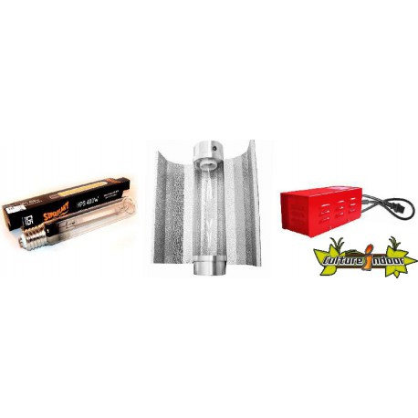 KIT Lampe HPS ECLAIRAGE MAGNETIC 400w CLASSE 2 - 2