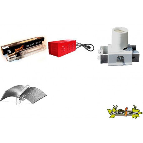 KIT Lampe HPS ECLAIRAGE MAGNETIC 400w CLASSE 2 - 6
