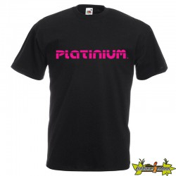 TEE SHIRT MONSTER PLANT NOIR/ROSE S PLATINIUM