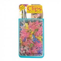 CLIPS plantes , orchidées , DRAGONFLY - Libellules x50PCS
