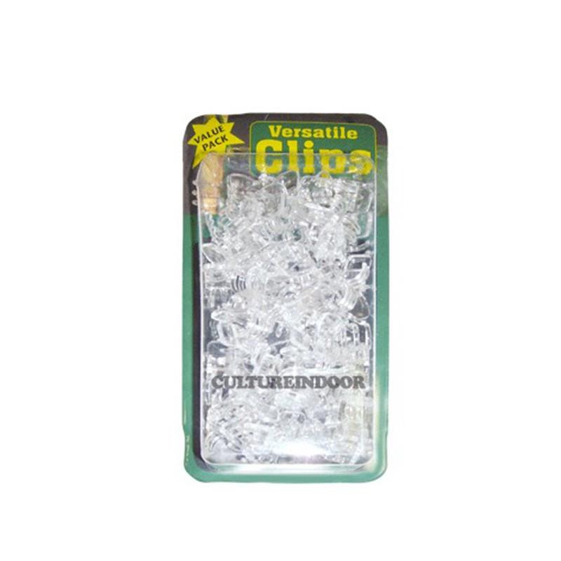 CLIPS plantes , orchidées , VERSATILE - Transparent x7 PCS
