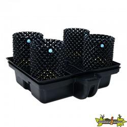 système hydroponique Platinium Big Pot XL AIR 80-4 - 80x80 cm - terre-coco-hydro