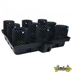 système hydroponique Platinium Big Pot XL AIR 120-9 - 120x120 cm - terre-coco-hydro