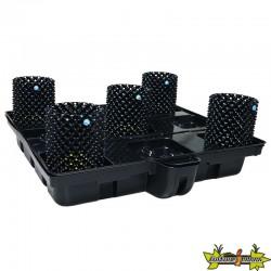 système hydroponique Platinium Big Pot XL AIR 120-5 - 120x120 cm - terre-coco-hydro