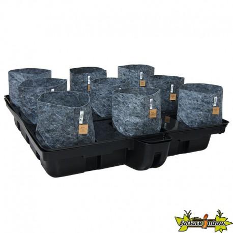 système hydroponique Platinium Big Pot Pouch Hydro 120-9 - 120x120 cm