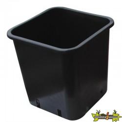 Pot carré plastique noir 24x24x28.3cm 11L