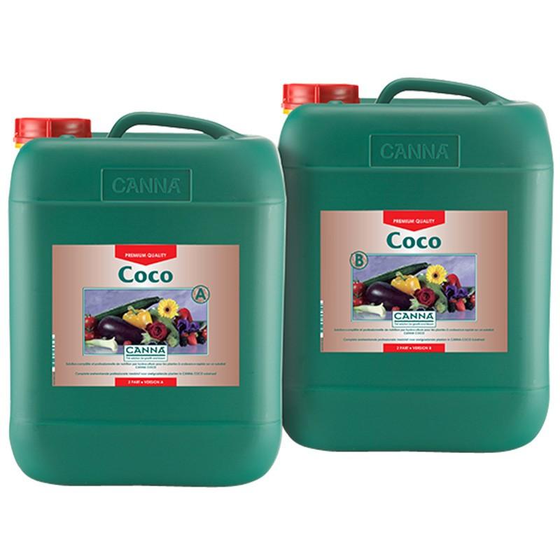 Coco A + B 10L Canna , engrais pour la croissance et la floraison sur fibre de coco