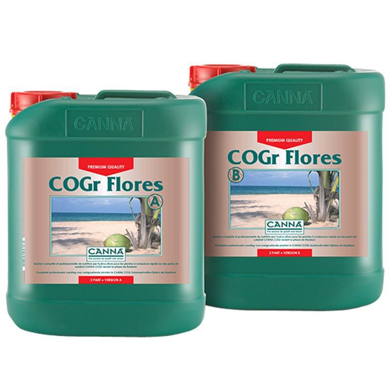 engrais COGR FLORES 2x5L ,Canna , engrais floraison pour culture sur pain cogr Canna