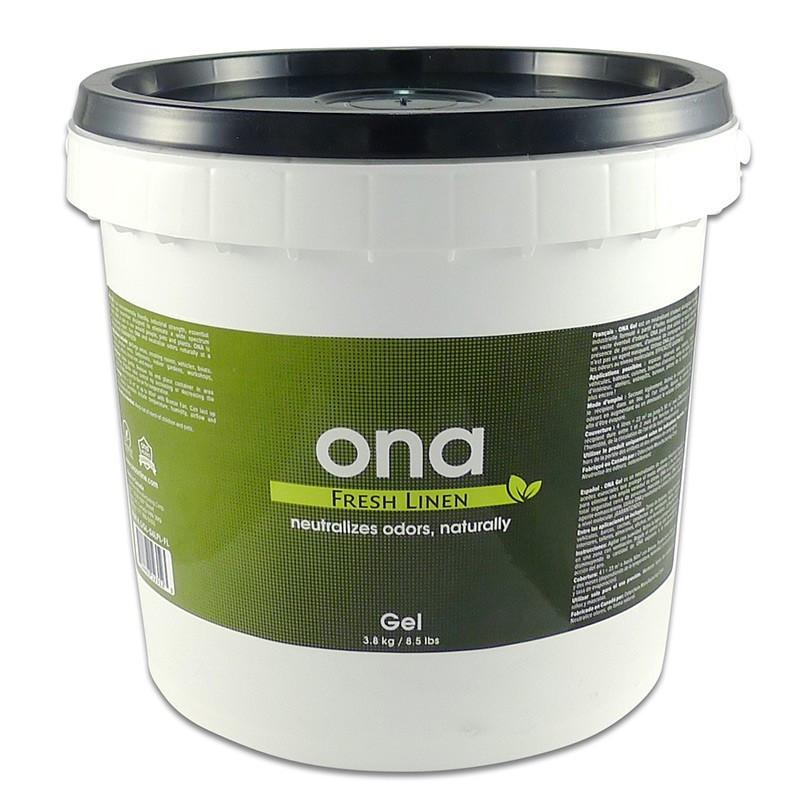destructeur d'odeurs ONA GEL FRESH LINEN SEAU DE 3.8kgs