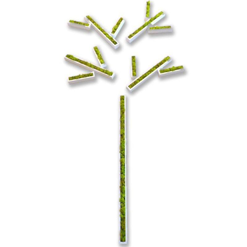 tableau végétal Stickers végétaux en lichen blanc laqué