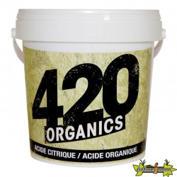 420 Organics - Acide citrique organique 250g, abaisse le ph