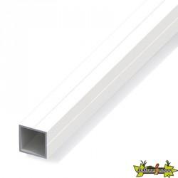 Tube carré de 1m Ø23.5mm pour M20 pvc blanc