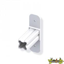 Connecteur base blanc Ø23.5mm 1 embout pour tube alu et pvc