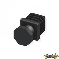 2 pieds réglables 23.5mm noir pour tube alu et pvc