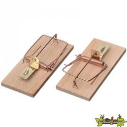 Lot de Tapette à souris en bois rectangulaire - 10 x 4,5cm