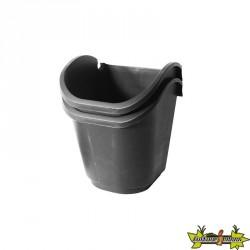 2 pots carrés pour kit mur végétal 2.5L H20.5x17.5x19.5cm