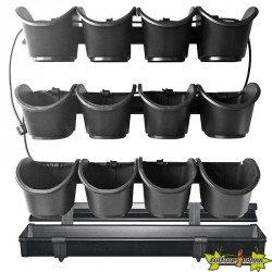 KIT POTAGER VERTICAL H60X60CM (4 SUPPORT+3 RAILS DE 4 POTS+IRRIG)