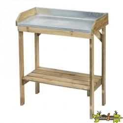 Table de rempotage H97x85x42cm (zinc pin du nord classe III)