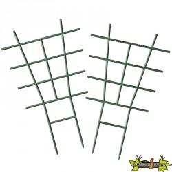 2 x tuteurs échelle vert emboîtable pour plantes grimpantes 28x17cm